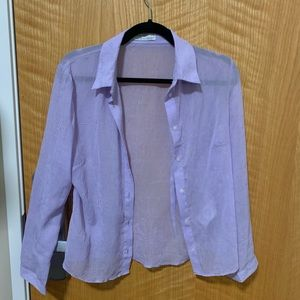 PERFECT condition crinkled button down